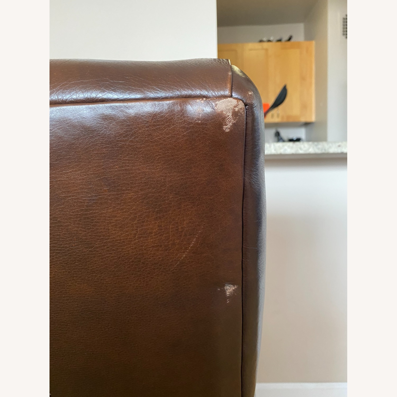 Crate & Barrel Leather Chair - image-4