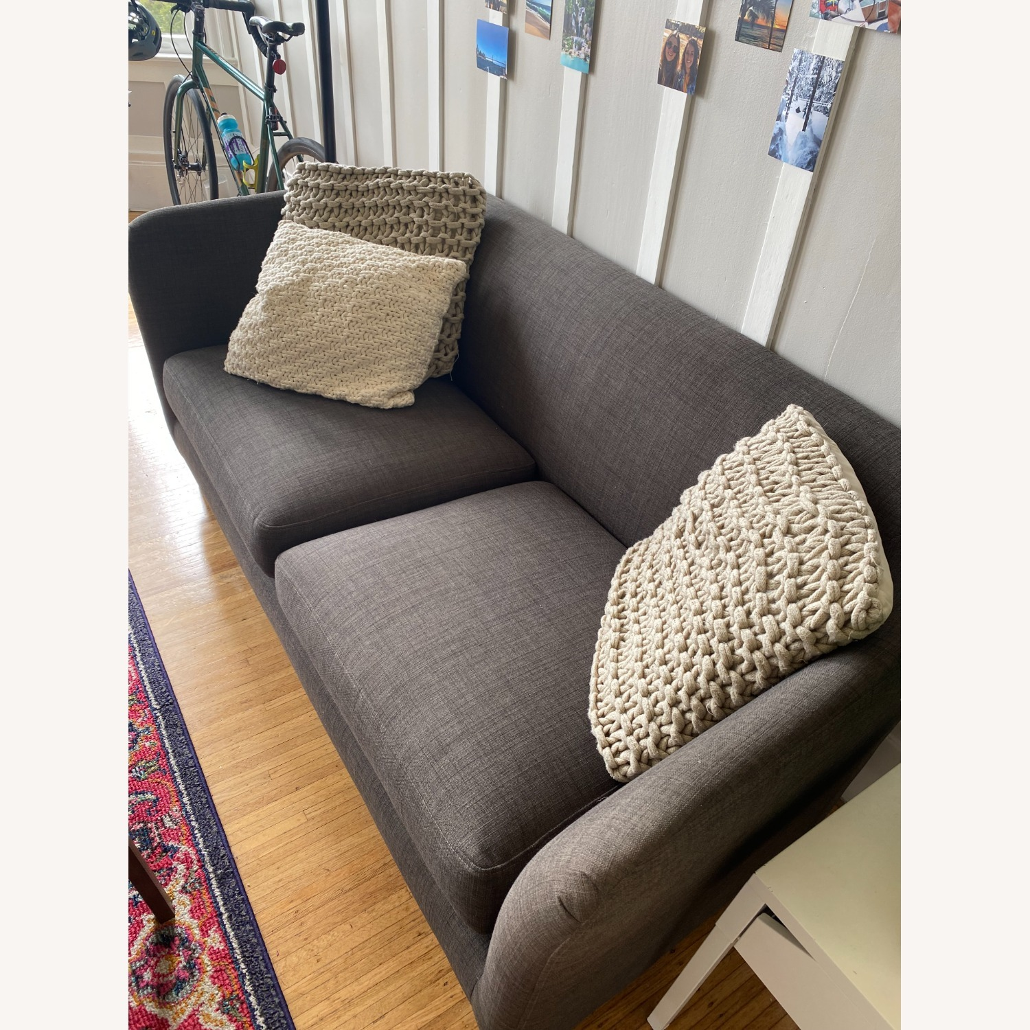 Crate and Barrel Loveseat - image-2