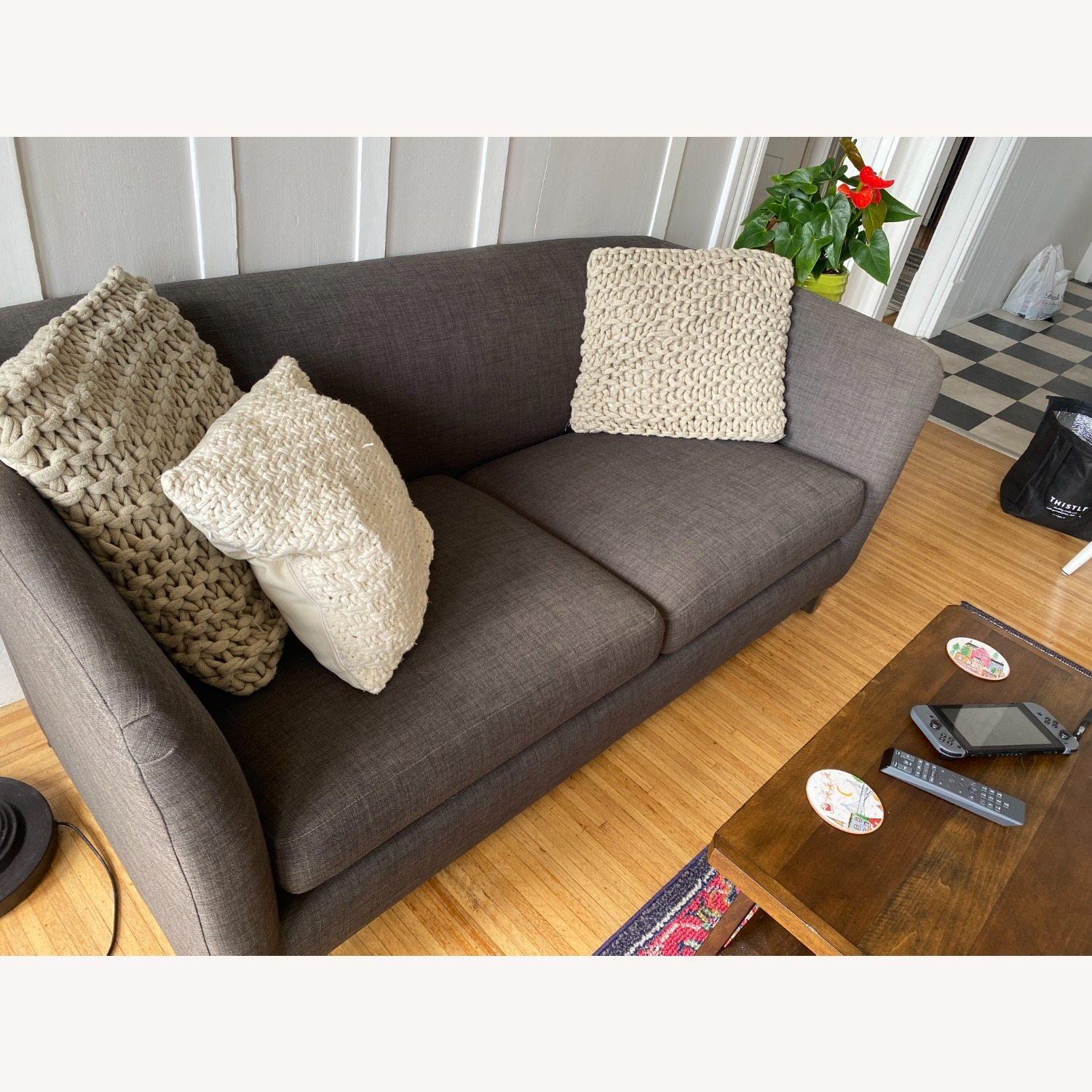 Crate and Barrel Loveseat - image-3