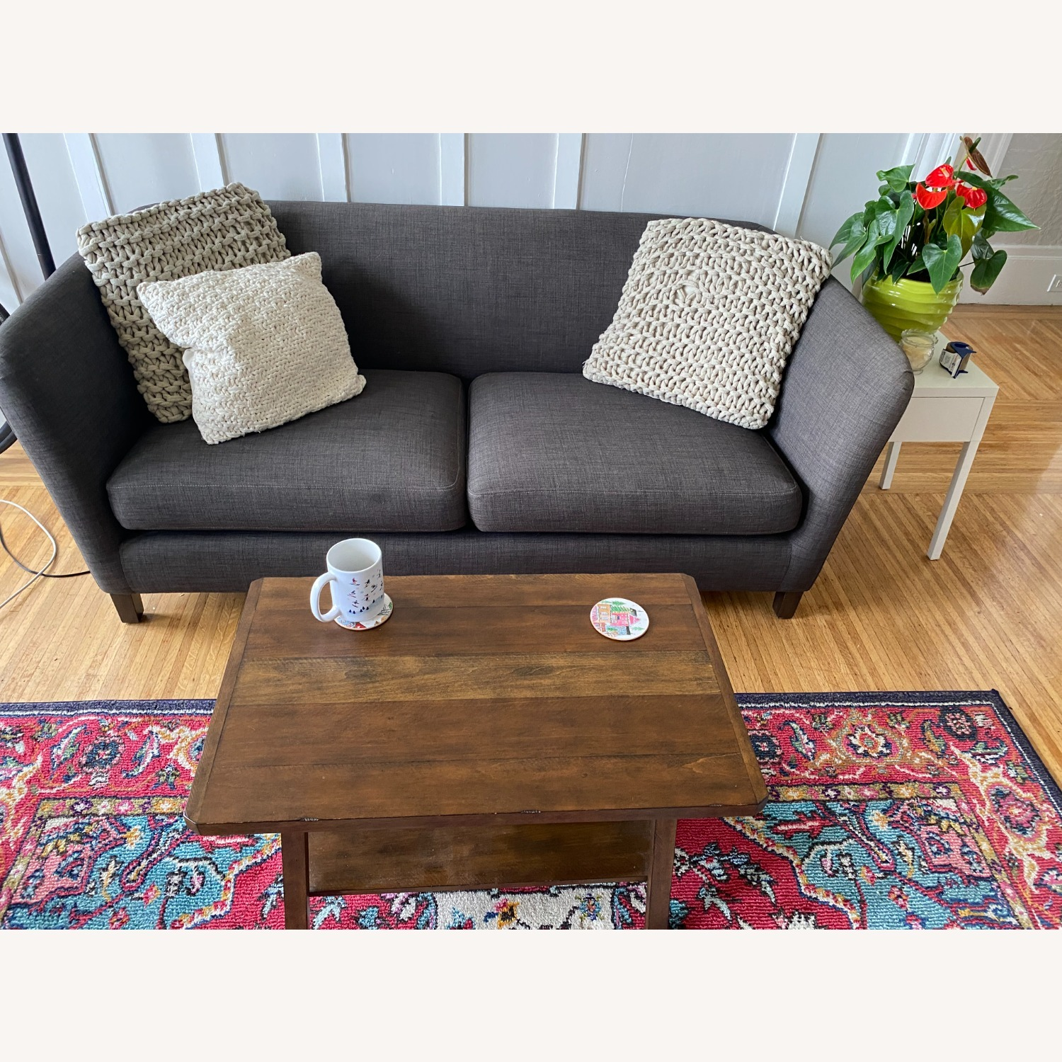 Crate and Barrel Loveseat - image-1