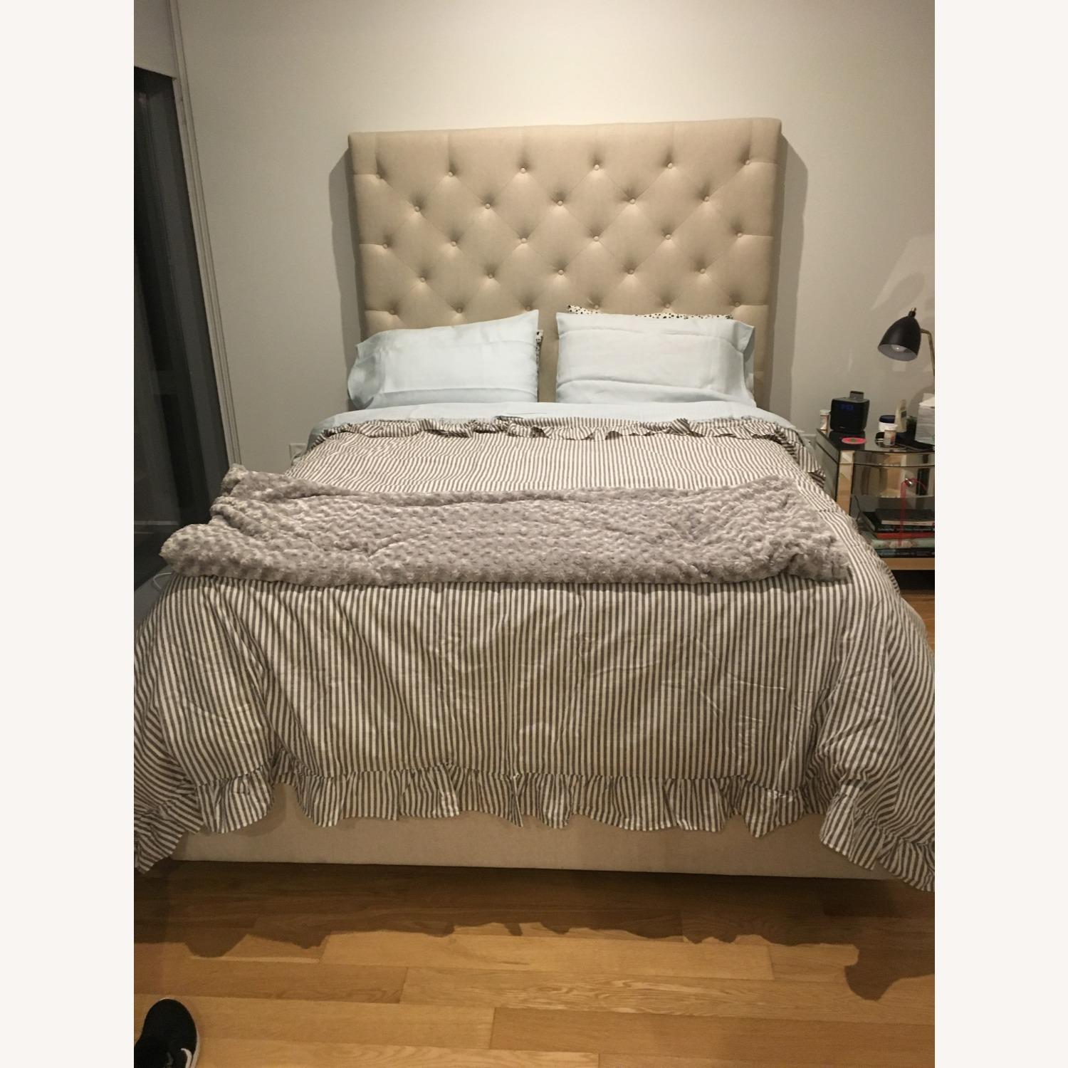 Pottery Barn Headboard and Storage Bed - image-3