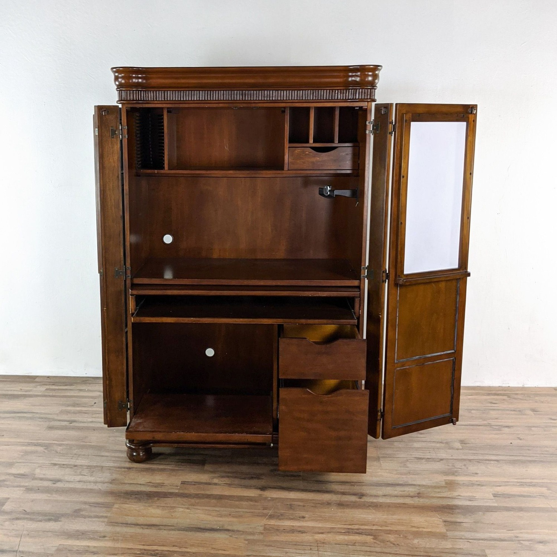 Sunrise Computer Desk Armoire - image-1