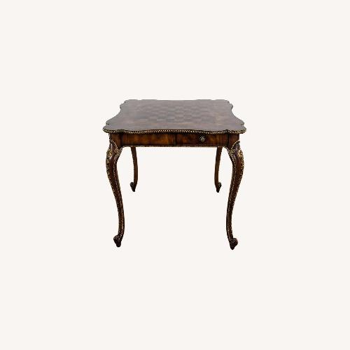 Used Theodore Alexander Wooden Chess Table for sale on AptDeco