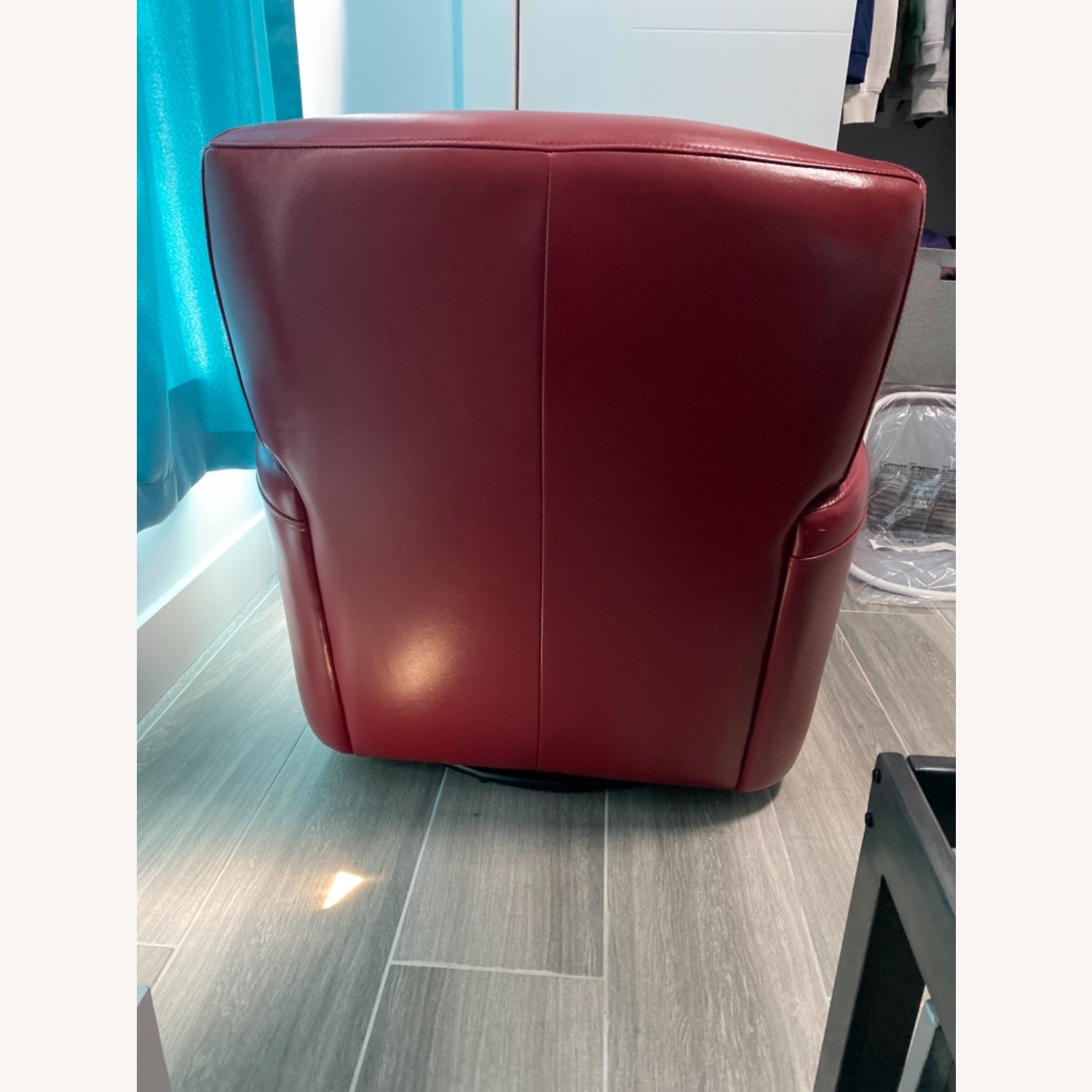 Bob's Discount Furniture Red Leather Accent Chair - image-3