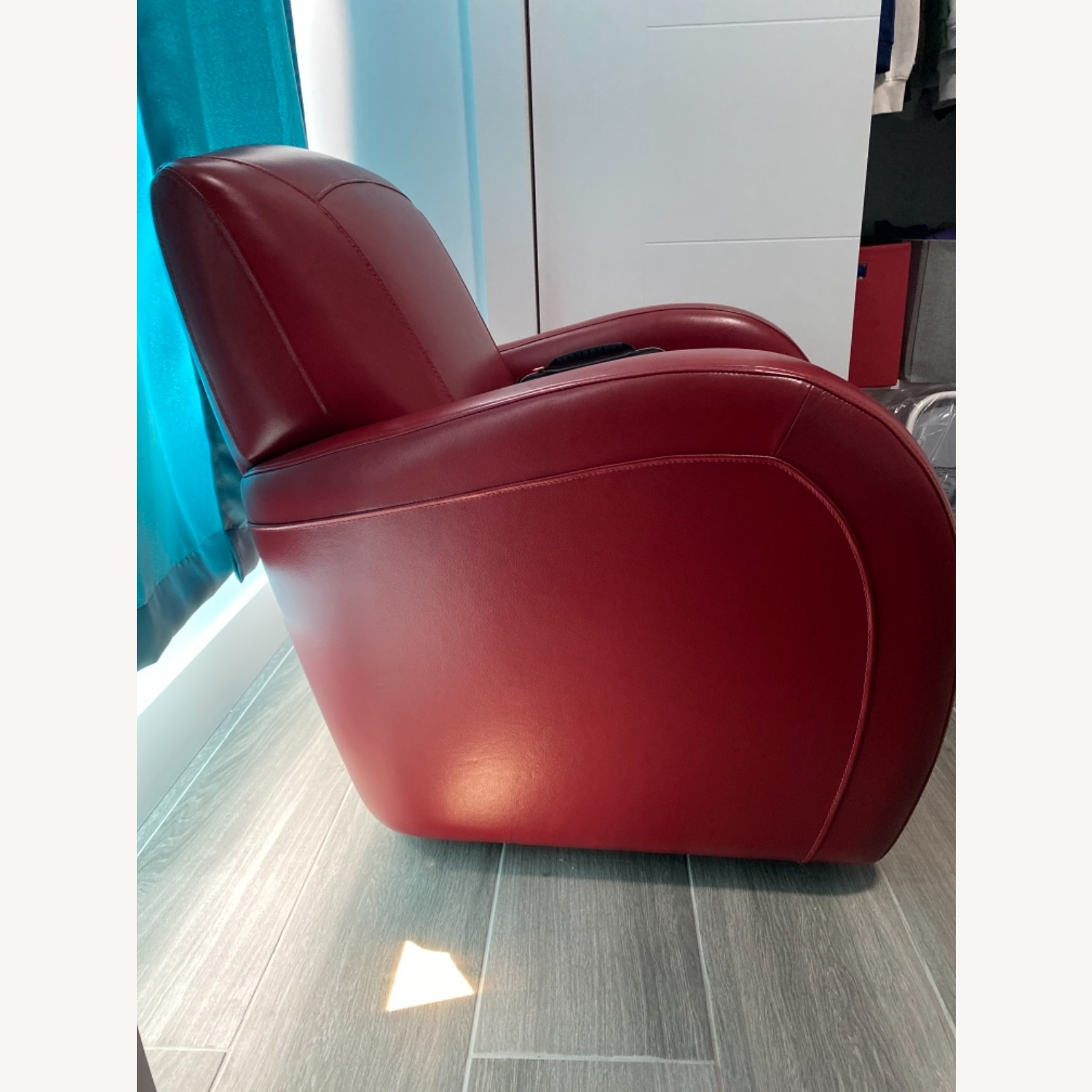 Bob's Discount Furniture Red Leather Accent Chair - image-4