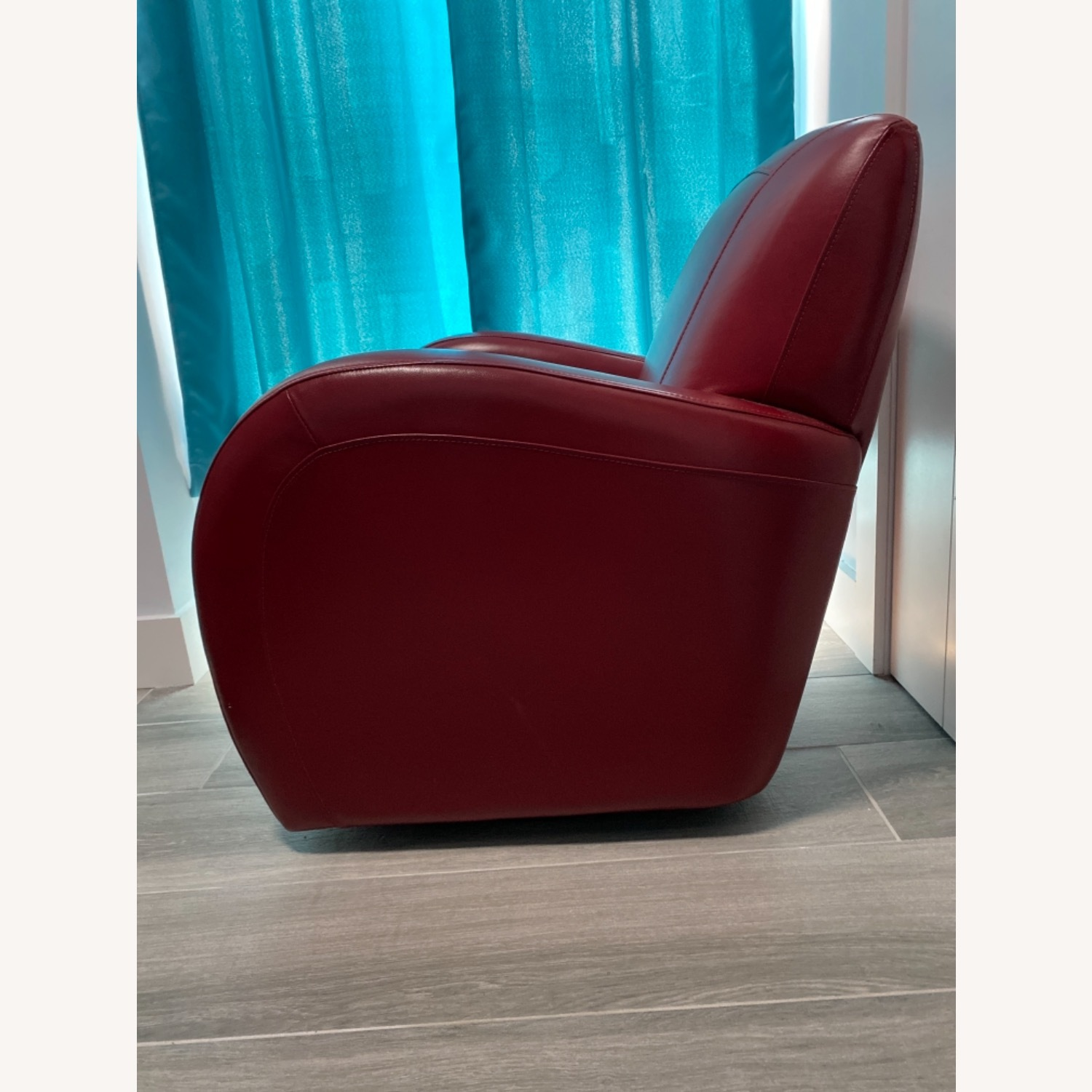 Bob's Discount Furniture Red Leather Accent Chair - image-5