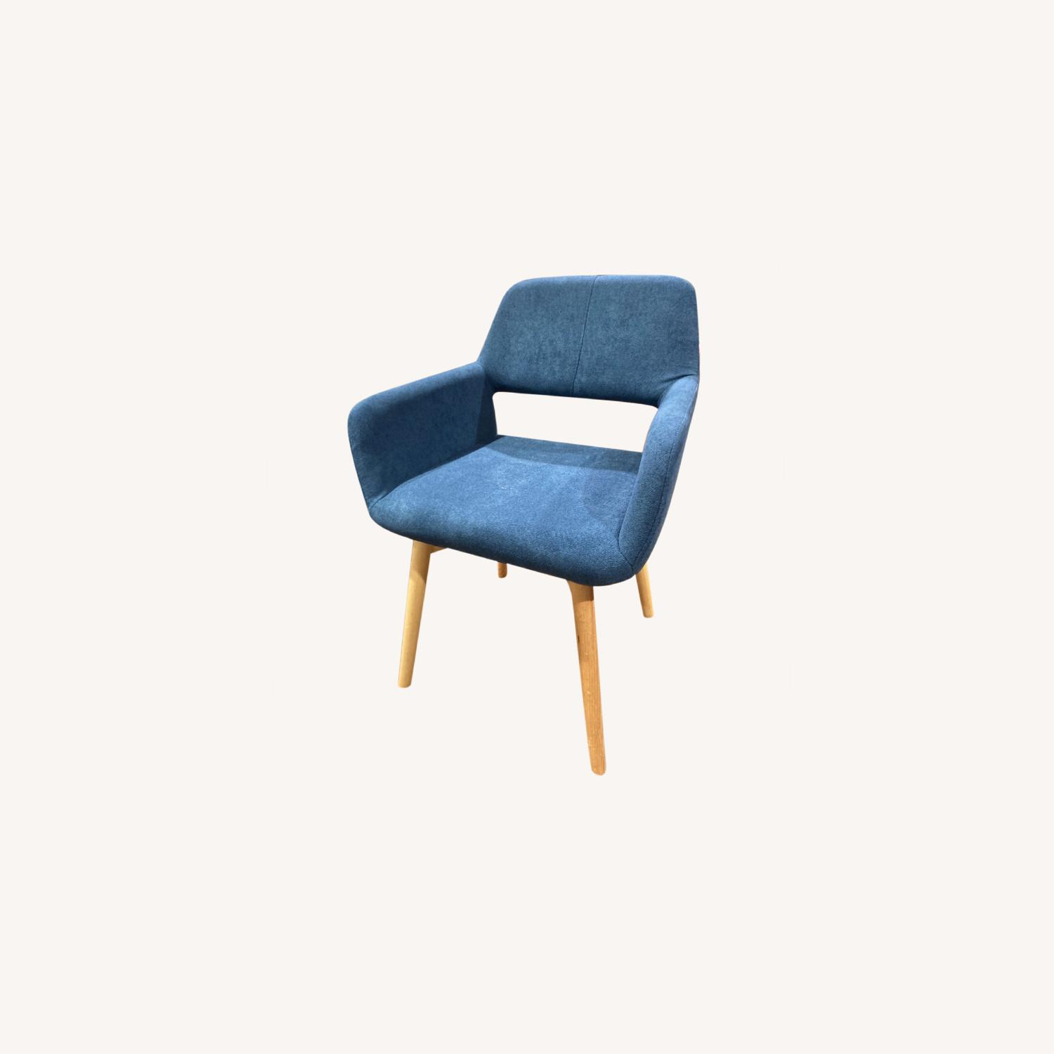 Blue Side Accent Chair - image-0