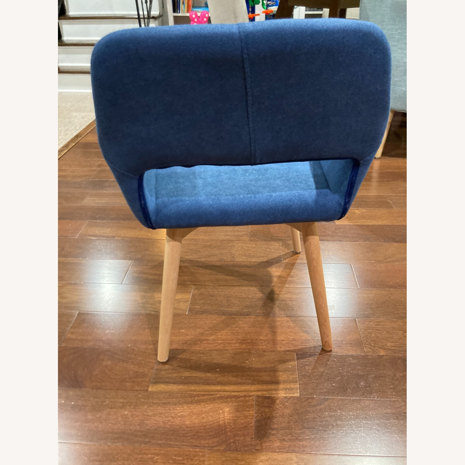 Blue Side Accent Chair - image-4