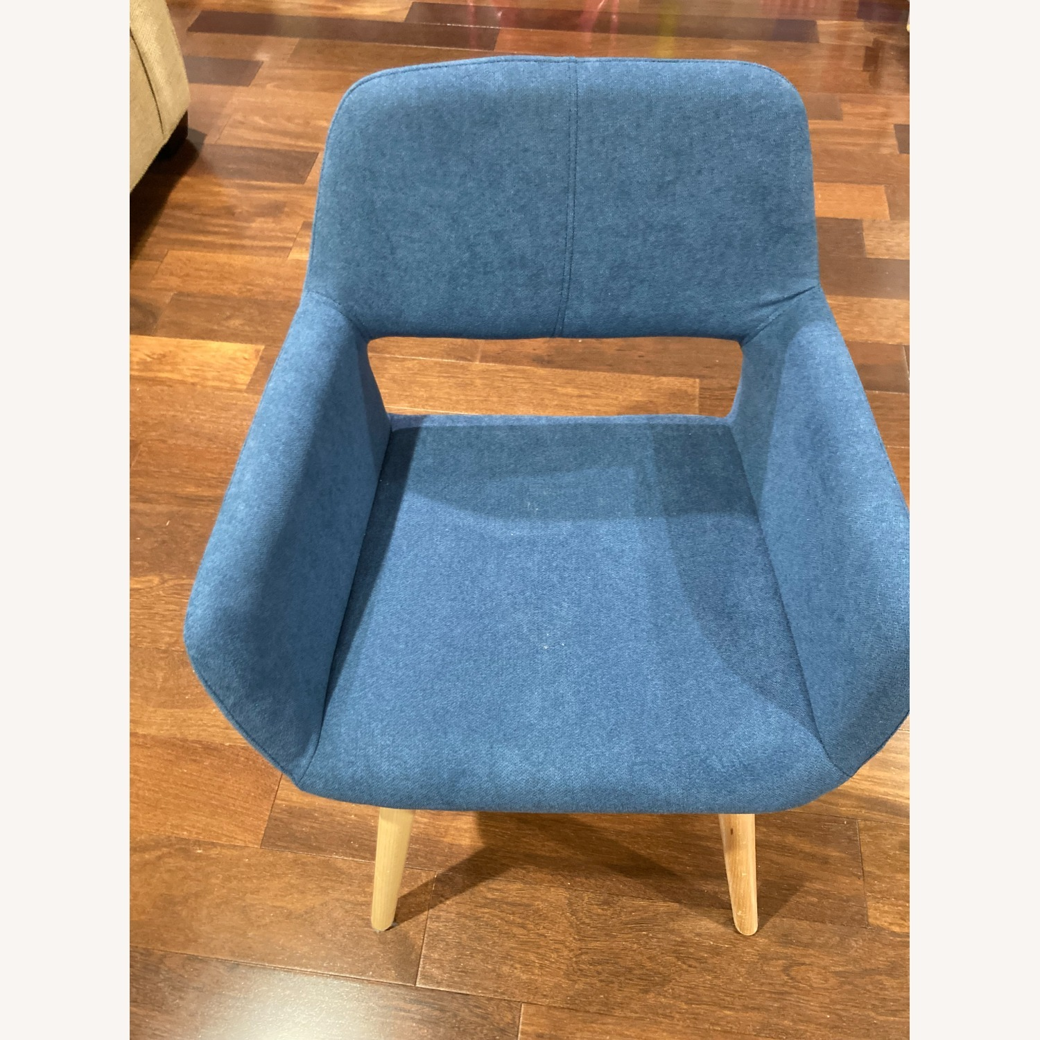 Blue Side Accent Chair - image-2