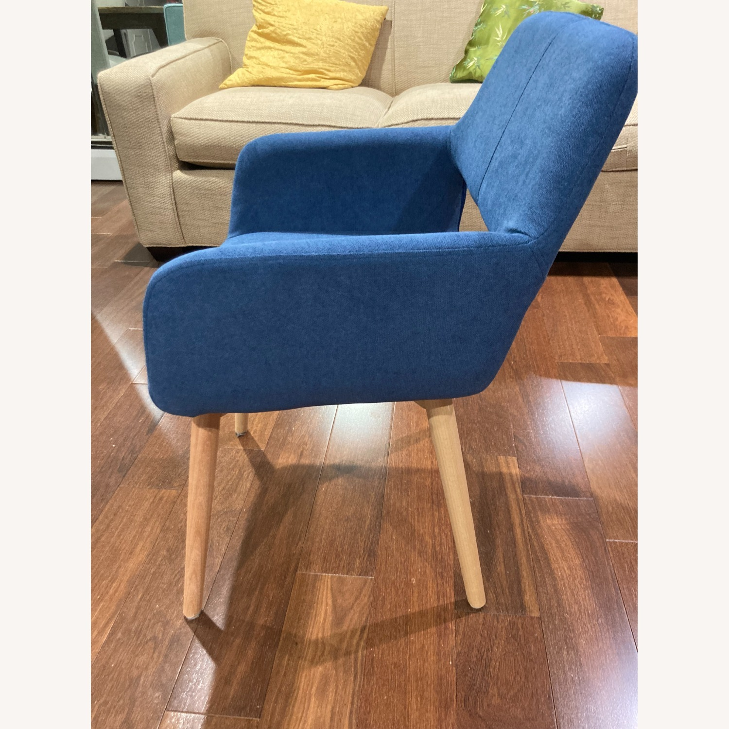 Blue Side Accent Chair - image-3