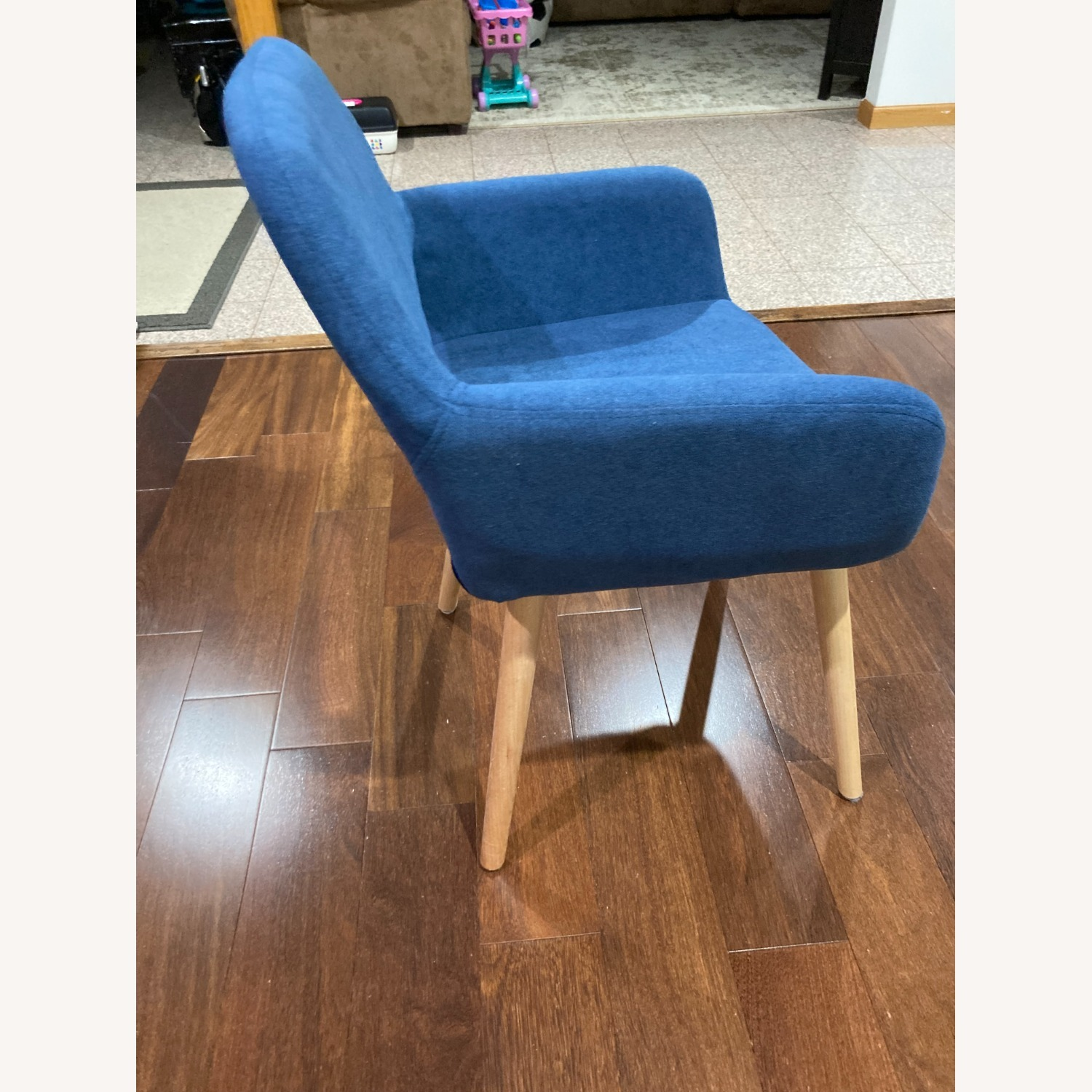 Blue Side Accent Chair - image-5