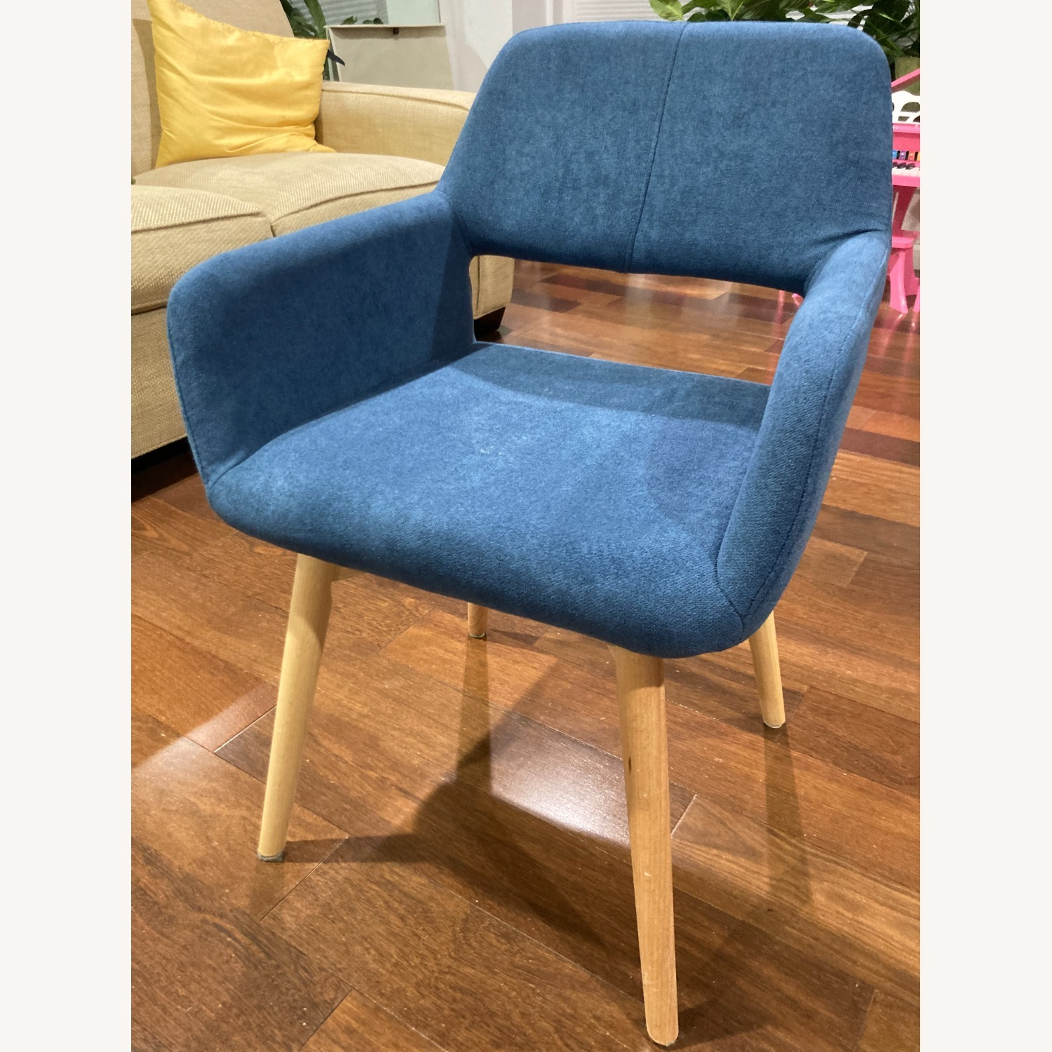 Blue Side Accent Chair - image-1