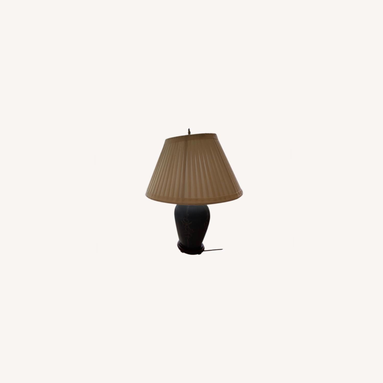 Handcrafted Ceramic Lamp Pair - image-0