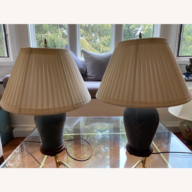 Handcrafted Ceramic Lamp Pair - image-1
