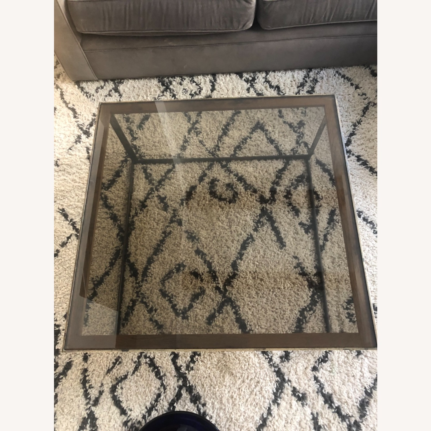 ABC Carpet and Home Brass and Tinted Glass Coffee Table - image-5