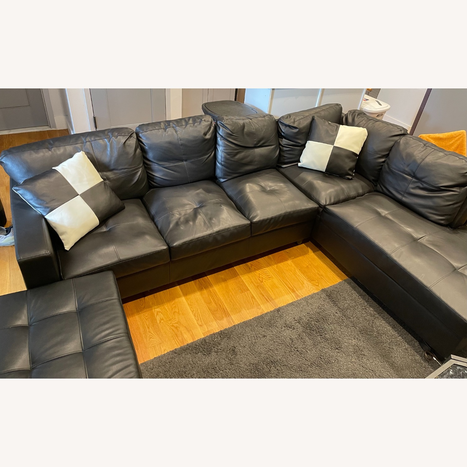 Andover Mills 103.5 Wide Faux Leather Sofa & Chaise - image-2