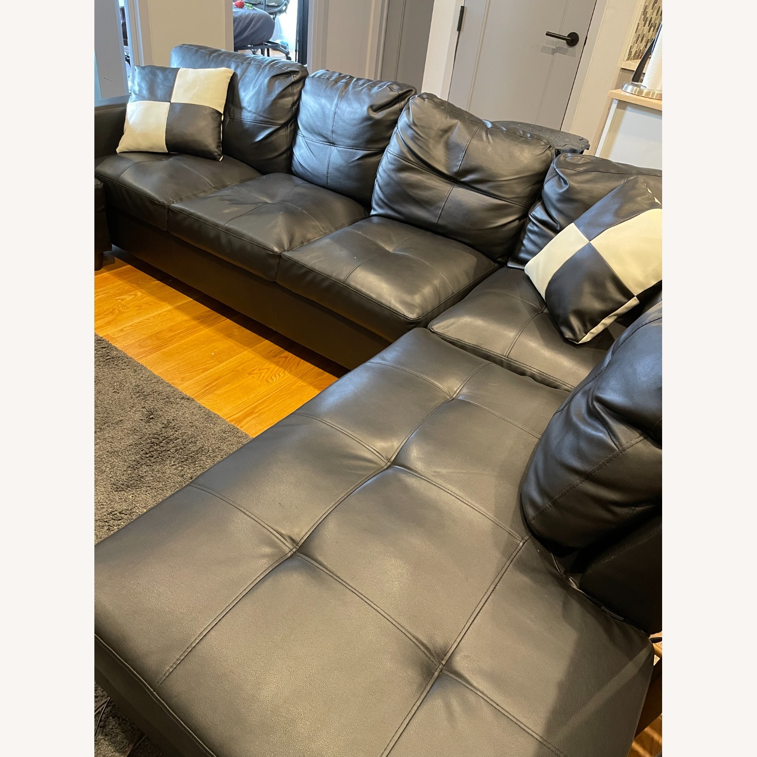 Andover Mills 103.5 Wide Faux Leather Sofa & Chaise - image-3