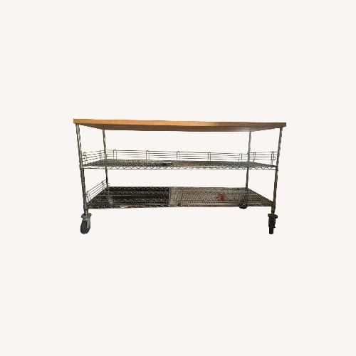 Used Home Depot Rolling Workbench Wood Top for sale on AptDeco