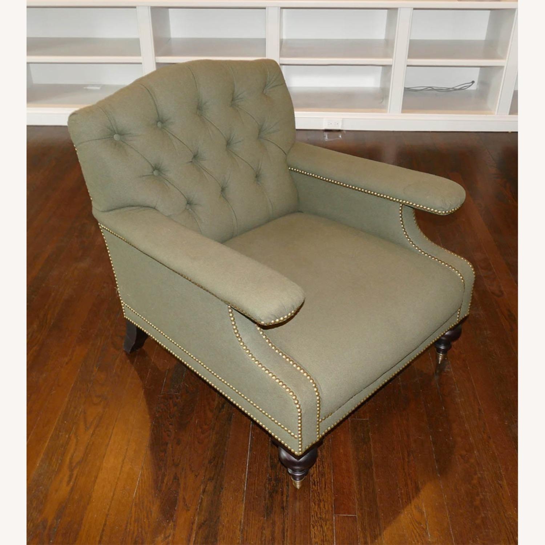 Ralph Lauren Alfred Green Fabric Club Armchair - image-2