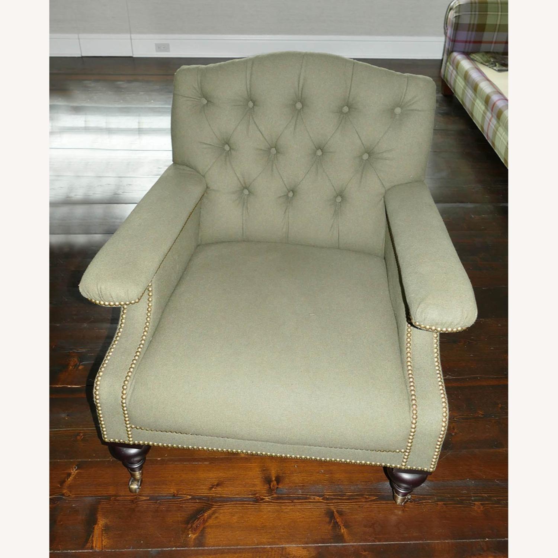 Ralph Lauren Alfred Green Fabric Club Armchair - image-1