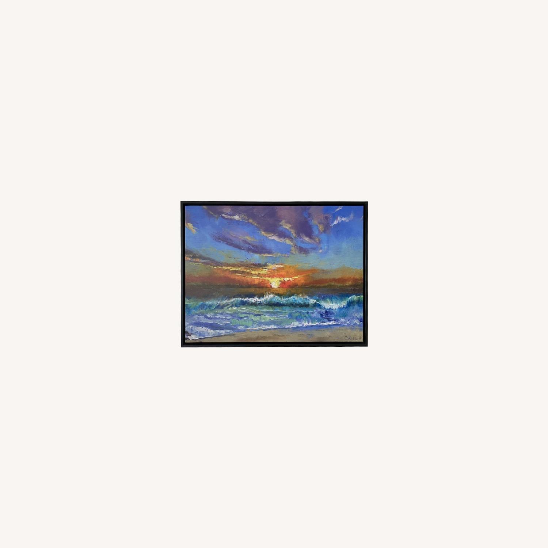 Great Big Canvas Malibu Beach Sunset Wall Art - image-0