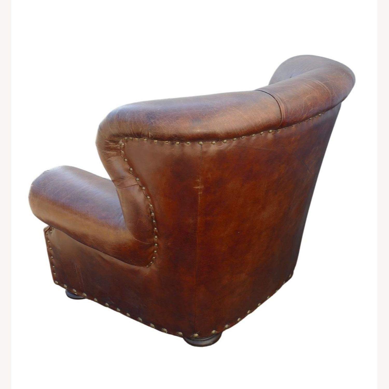 Restoration Hardware Churchill Leather Club Chair - image-4