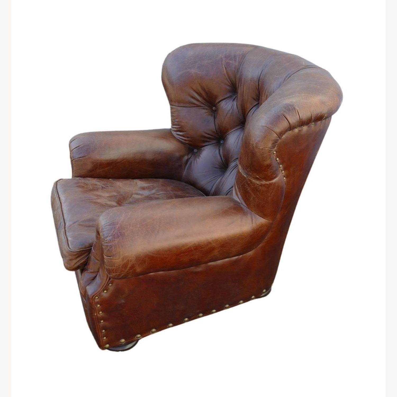 Restoration Hardware Churchill Leather Club Chair - image-3