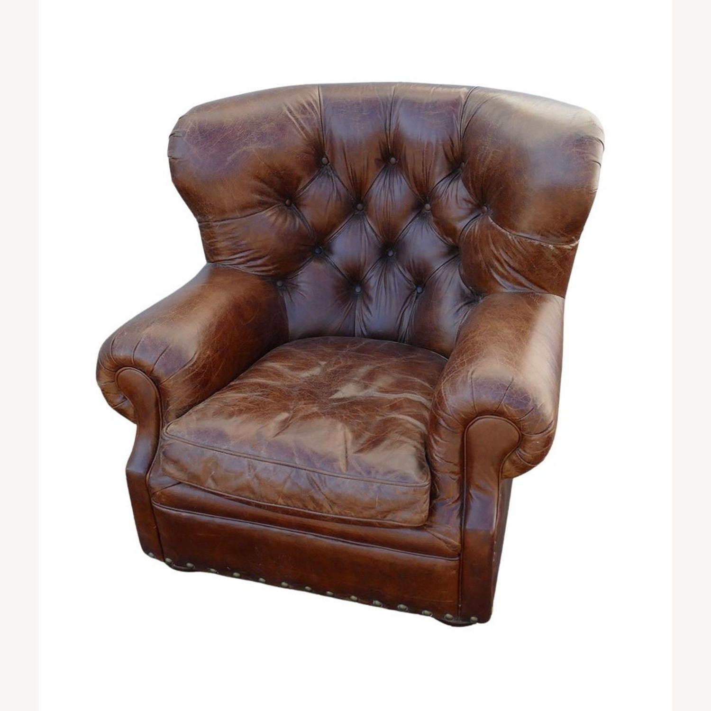 Restoration Hardware Churchill Leather Club Chair - image-1
