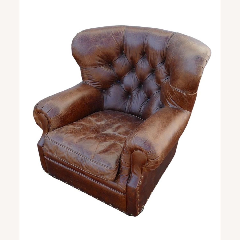 Restoration Hardware Churchill Leather Club Chair - image-2
