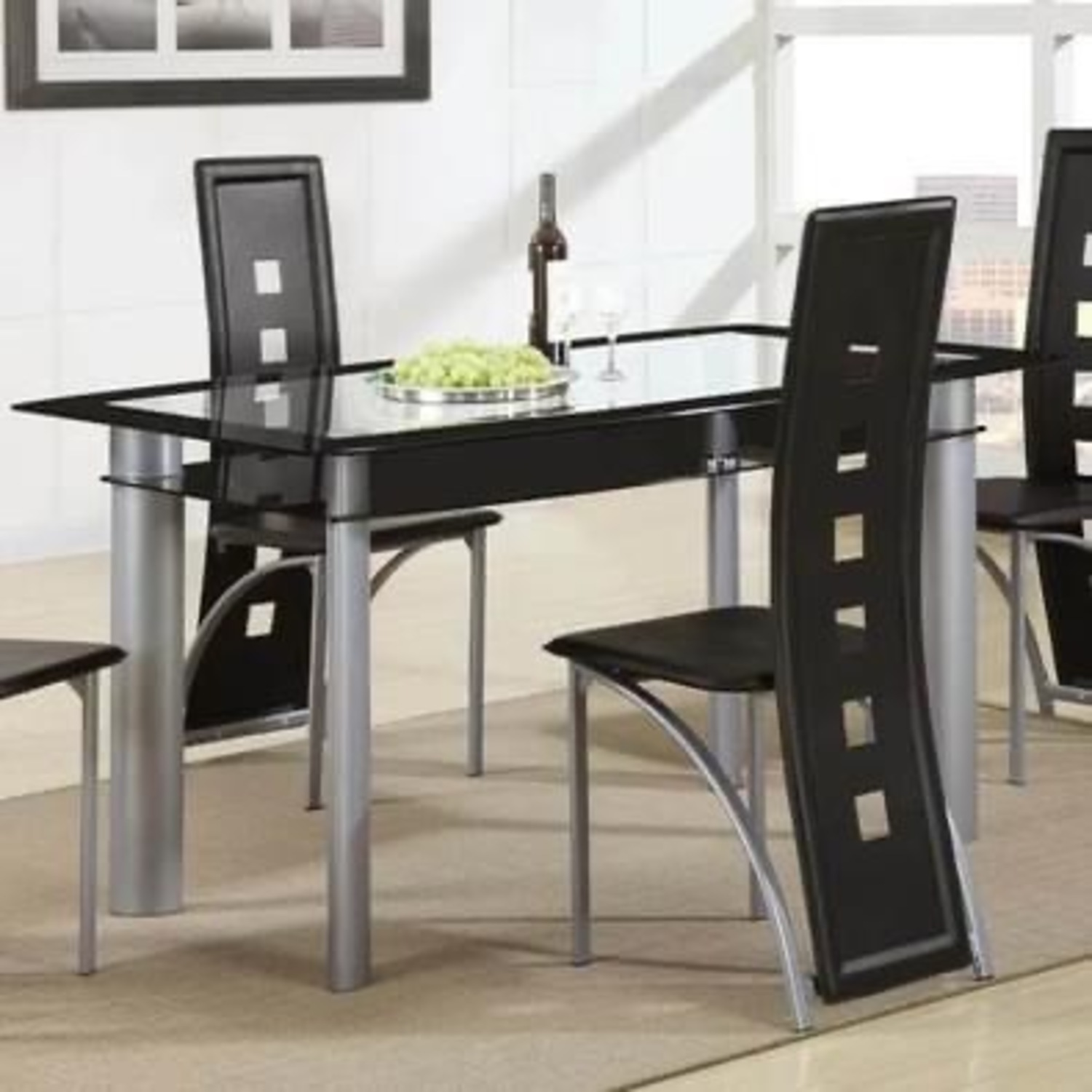 Wayfair Black Dining Table Set with Chairs - image-3
