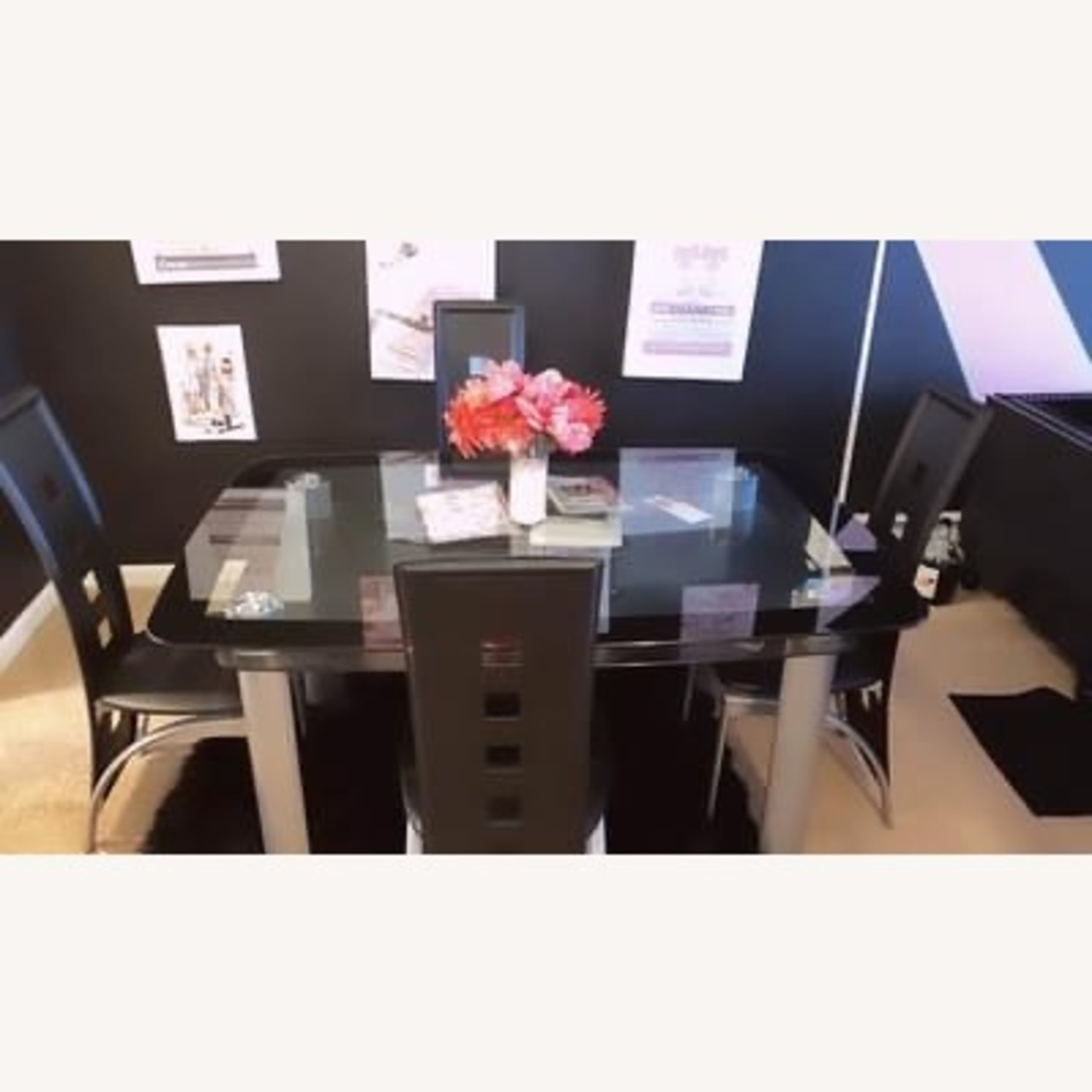 Wayfair Black Dining Table Set with Chairs - image-2