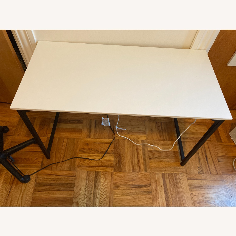 "White 47"" Working Desk. - image-1"