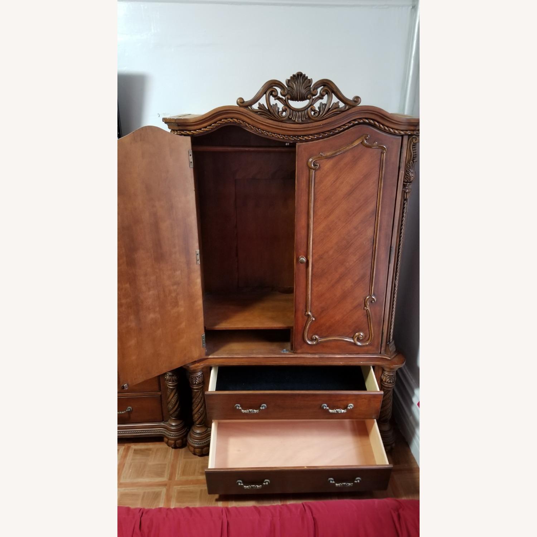 Cherry Brown Wooden Wardrobe - image-4