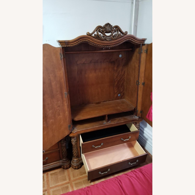 Cherry Brown Wooden Wardrobe - image-3