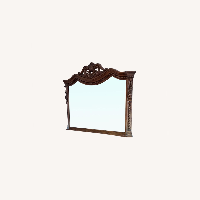 Cherry Brown Wood Mirror - image-0
