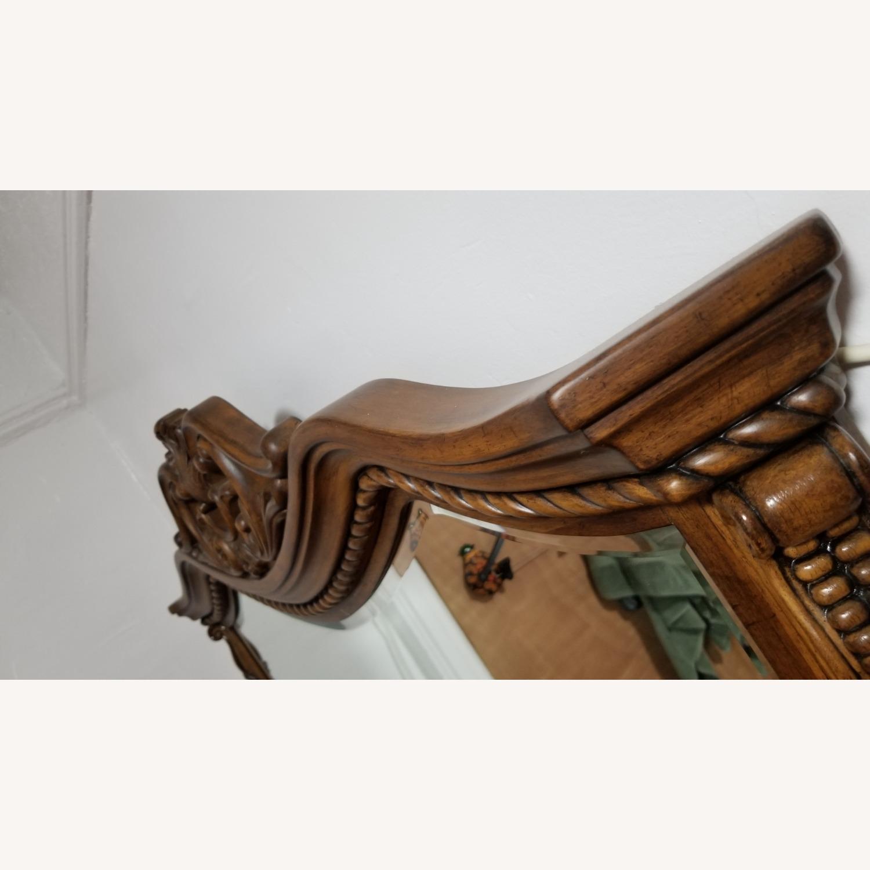 Cherry Brown Wood Mirror - image-3