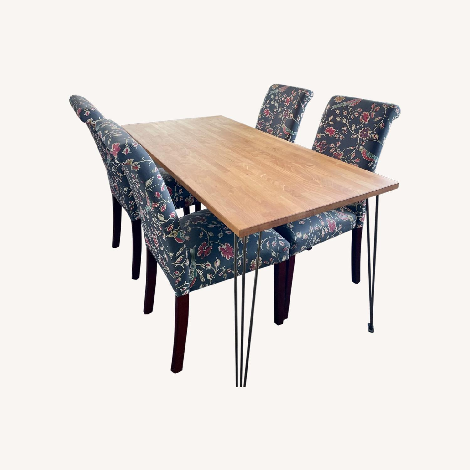 Target Wood Top Dining Table and 4 Matching Chairs - image-0
