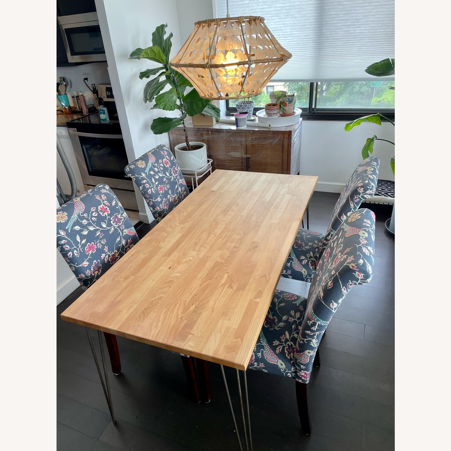 Target Wood Top Dining Table and 4 Matching Chairs - image-3