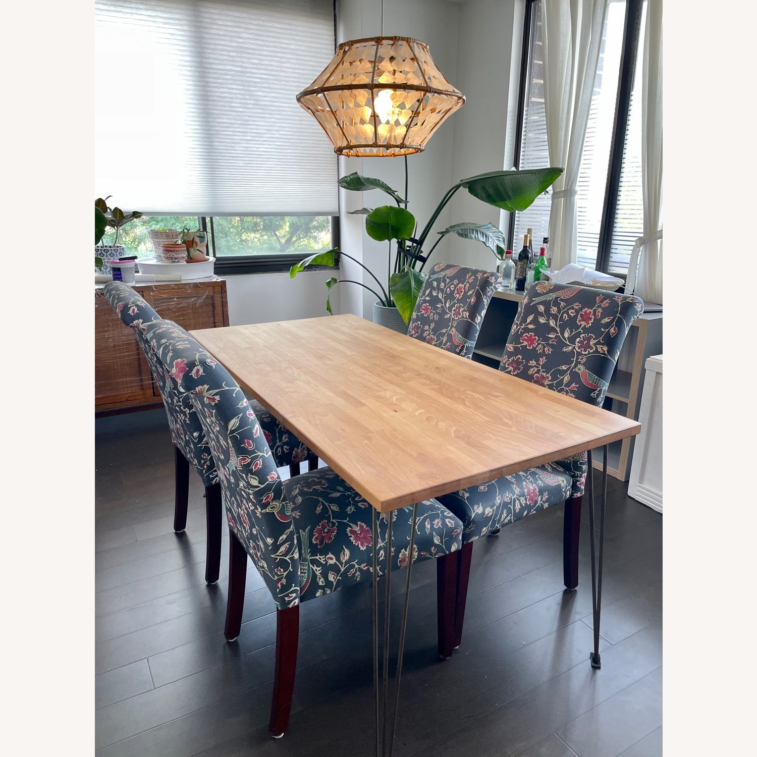 Target Wood Top Dining Table and 4 Matching Chairs - image-1