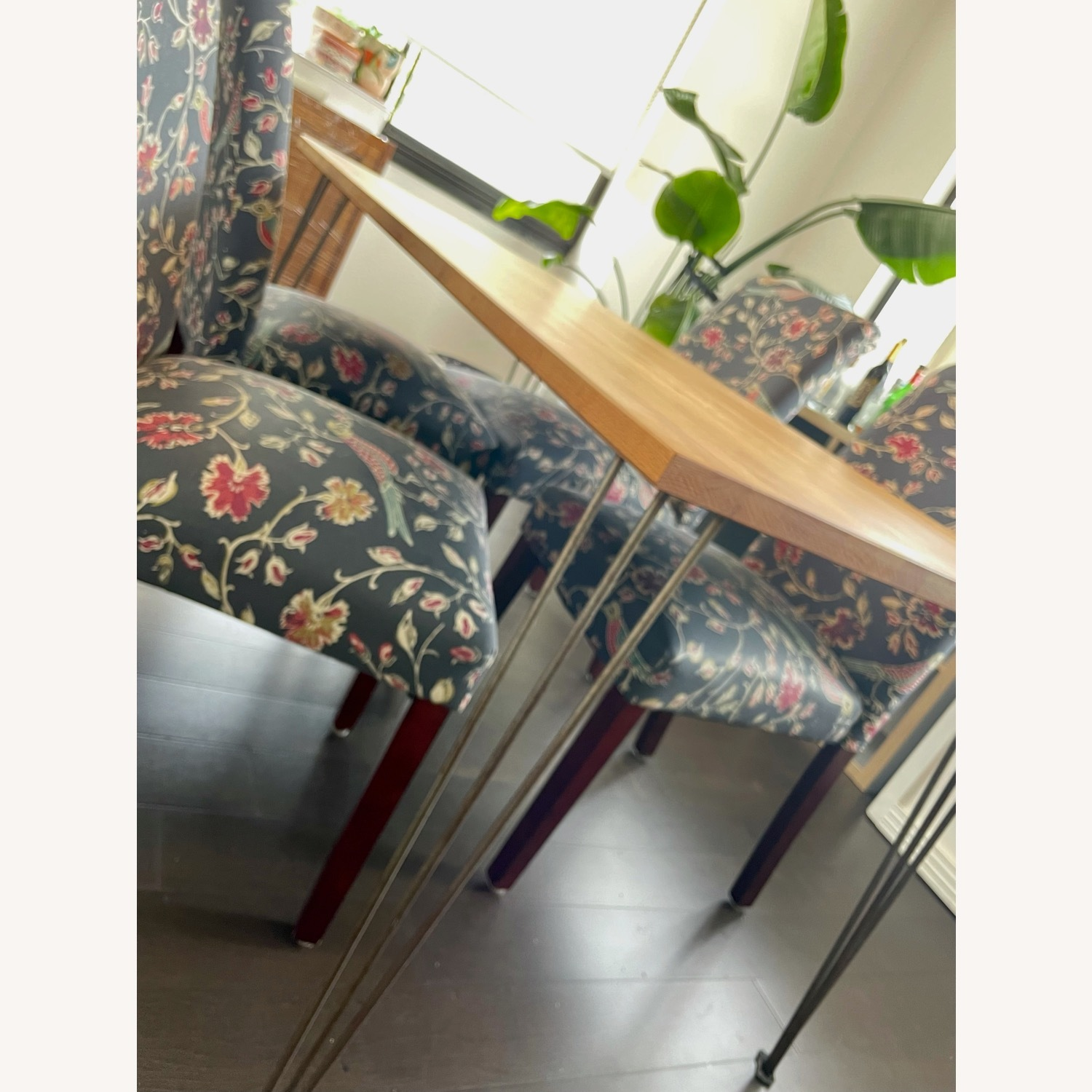 Target Wood Top Dining Table and 4 Matching Chairs - image-2