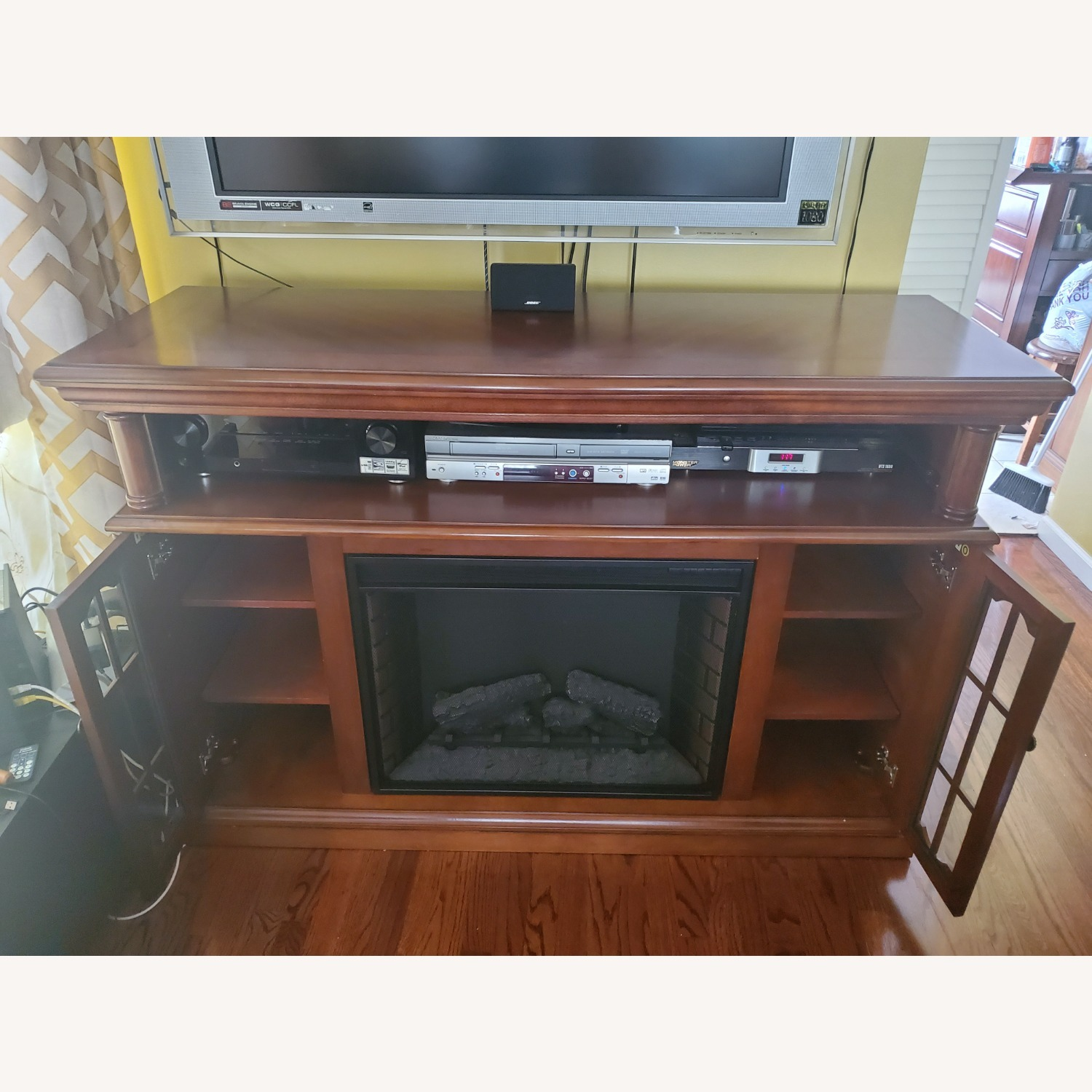 Electric Fireplace with Storage - image-6