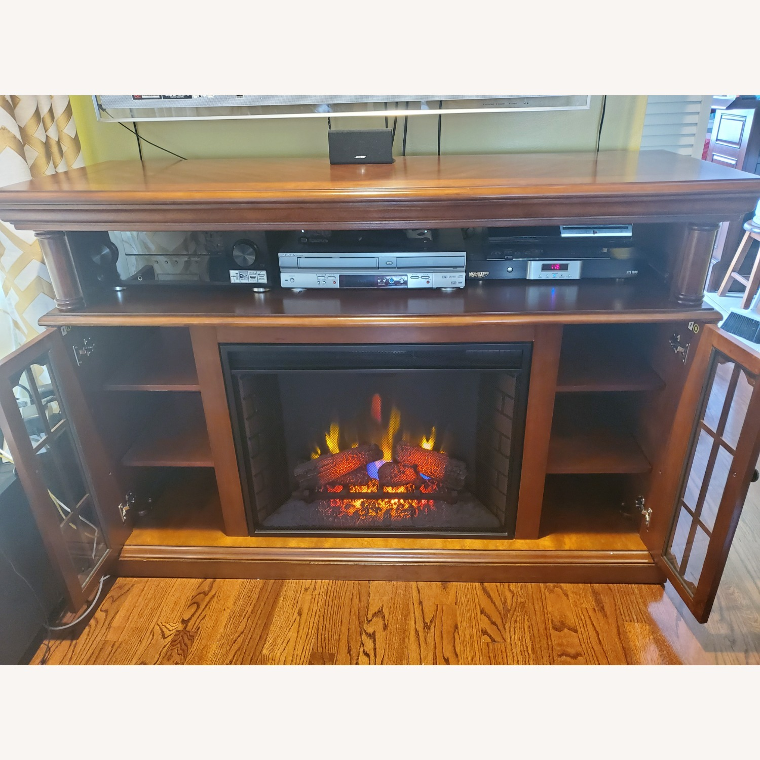 Electric Fireplace with Storage - image-8