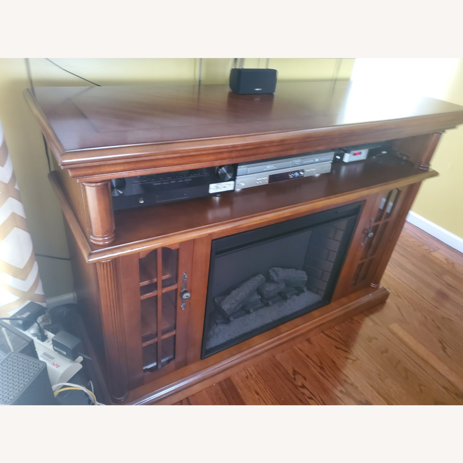 Electric Fireplace with Storage - image-2