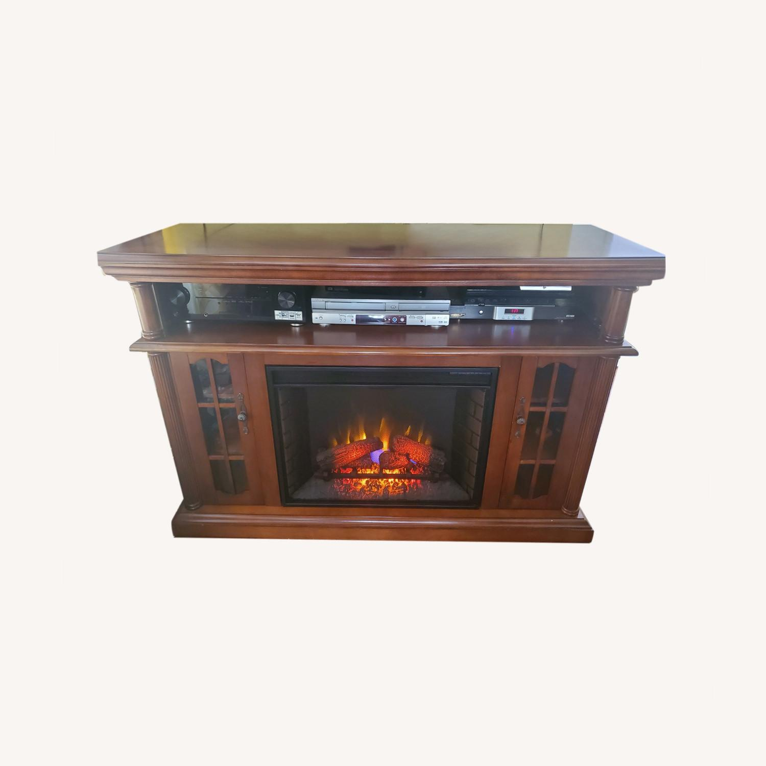 Electric Fireplace with Storage - image-0