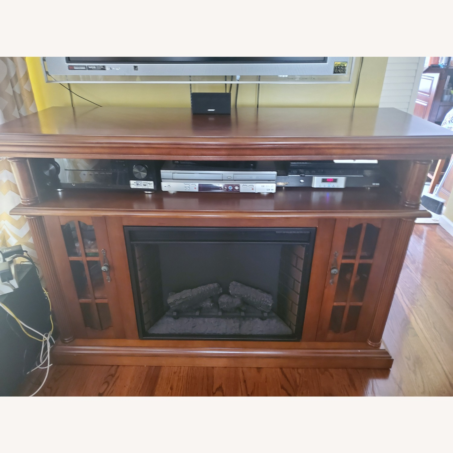 Electric Fireplace with Storage - image-5