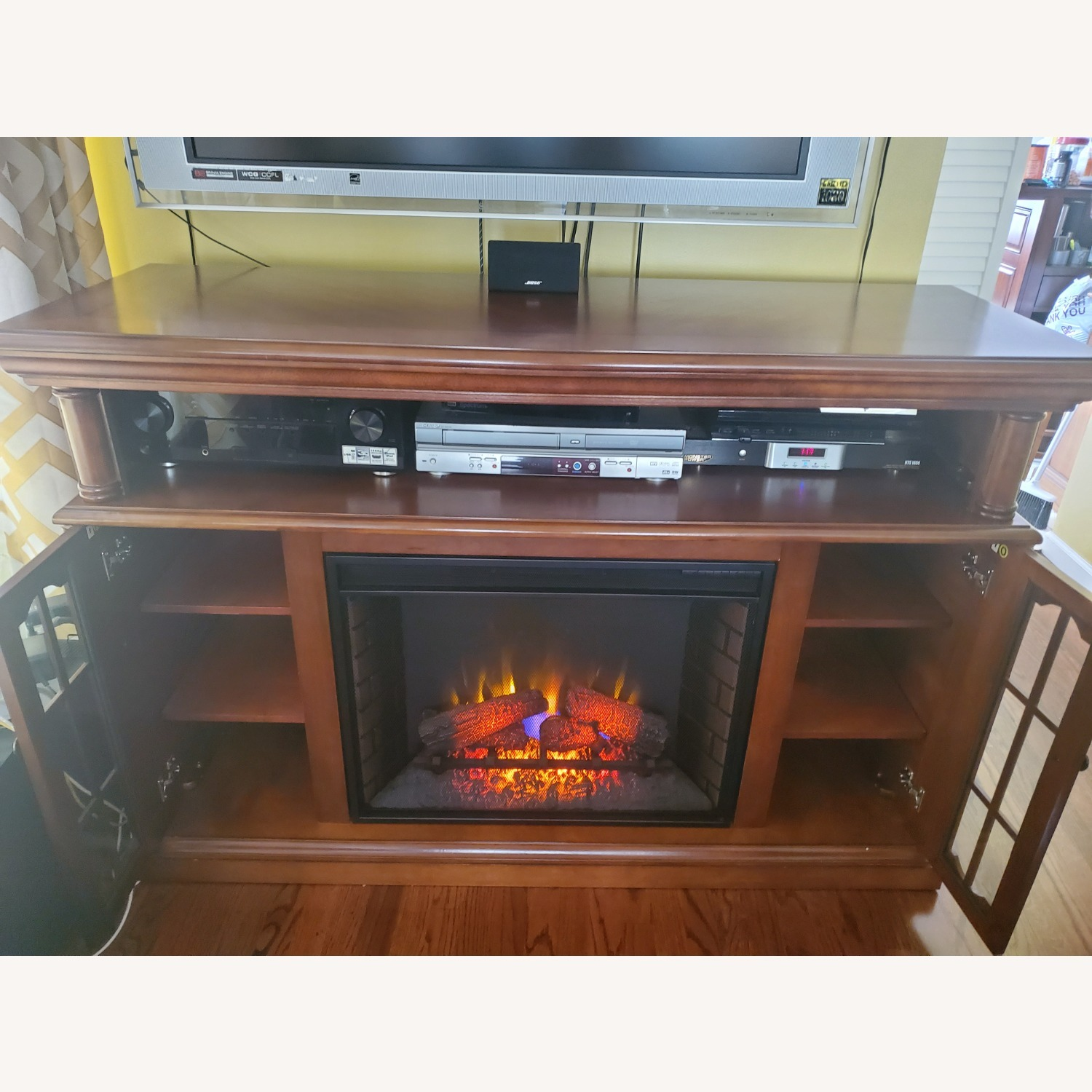 Electric Fireplace with Storage - image-1