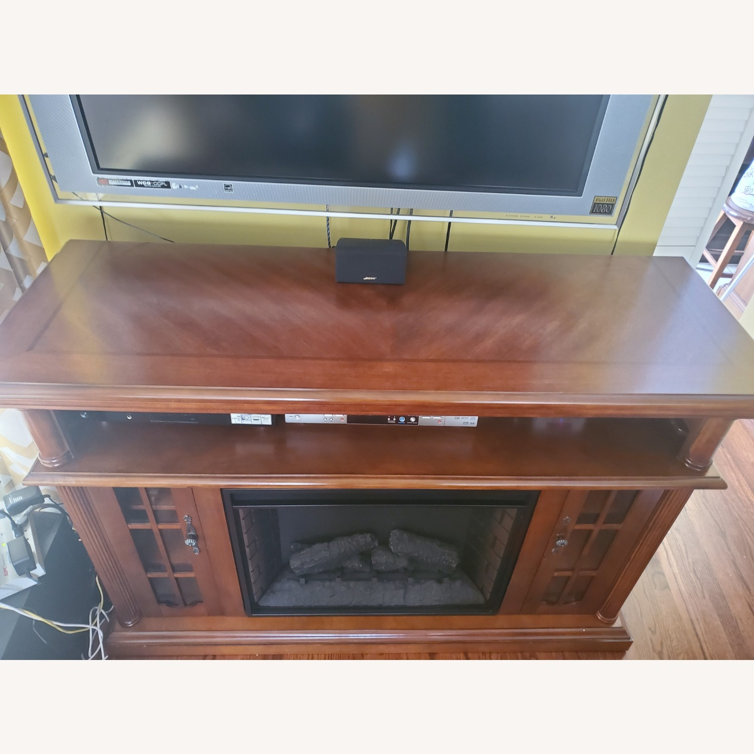 Electric Fireplace with Storage - image-3