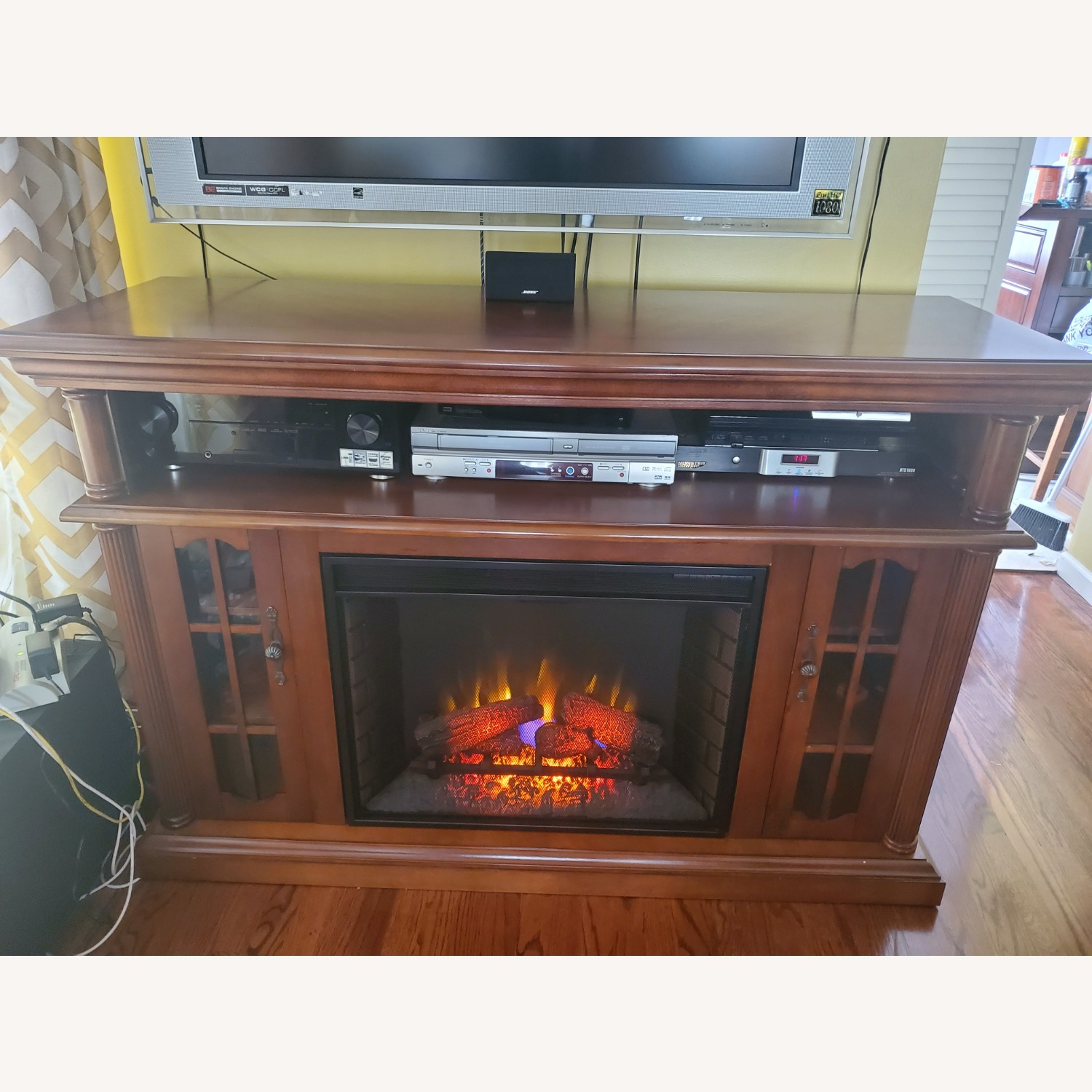 Electric Fireplace with Storage - image-7
