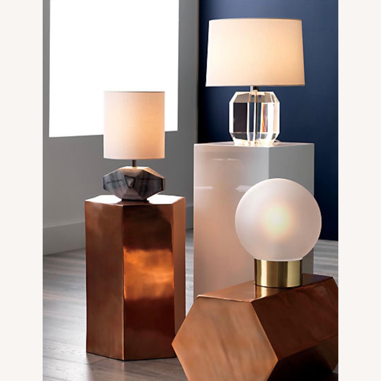 CB2 Bronze Hexagonal Side Table - image-5