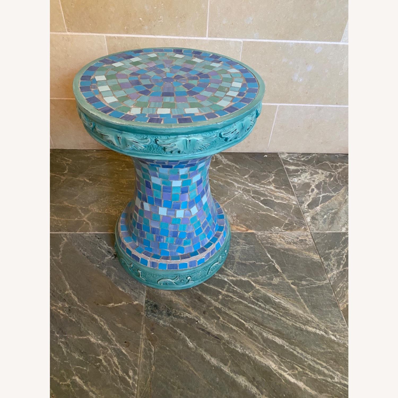 Vintage Mosaic Tile Garden Stool - image-7